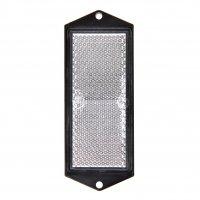 REFLECTOR WIT 104X40MM SCHROEFBEVESTIGING (1ST)