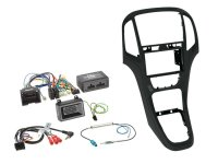 2-DIN + RADIO ADAPTER KIT OPEL ASTRA 2009-2016 COLOR: PEARL BLACK (1PC)