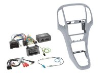 2-DIN + RADIO ADAPTER KIT OPEL ASTRA 2009-2016 COLOR: PLATIN SILVER (1PC)
