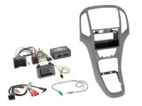 2-DIN WITH POCKET + RADIO ADAPTER KIT OPEL ASTRA 2009-2016 COLOR: TITANIUM GRAY (1PC)