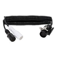 24V ADAPTER SPIRAL CABLE + 3 MOUNTED PLUGS 3-4MTR (1PC)