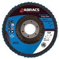 ABRACS 4* FLAP DISC STEEL/STAINLESS STEEL ZIRCONIUM PRO 115X22.2 K80 (1PC)