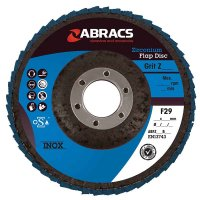 ABRACS 4* FLAP DISC STEEL/STAINLESS STEEL ZIRCONIUM PRO 125X22.2 K40 (1 PC)