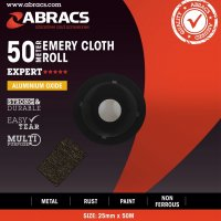 ABRACS EMERY CLOTH ALUMINIUM OXIDE 25MMX50 METRE K280 (1PC)