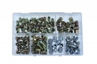 ASSORTMENT BOX WITH BRAKE NUTS 120-PIECES