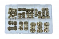 ASSORTMENT COMPRESSION FITTINGS 3/16-1/2 25-PIECE (1PC)