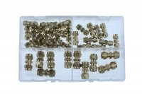 ASSORTMENT COMPRESSION FITTINGS 4-12MM 40-PIECE (1PC)