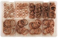 ASSORTMENT SEALING RINGS COPPER 250-PIECE (1PC)