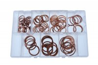 ASSORTMENT SEALING RINGS COPPER LARGE 140-PIECE (1PC)