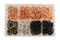 ASSORTMENT SEALING RINGS VARIOUS 240-PIECE (1PC)