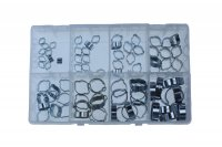 ASSORTMENT TWO EAR CLAMPS STEEL ZINC PLATED 40-PIECE (1PC)