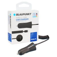 BLAUPUNKT TYP-C / USB CHARGING CABLE WITH USB TYP-C SPIRAL CABLE, 2,4A, BLACK (1PC)