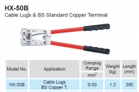 CRIMPING PLIERS FOR UNINSUL STARTER LUGS 6,0-50MM² (1PC)