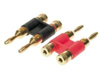 DOUBLE BANANA PLUGS DOUBLE 1 X RED / 1 X BLACK> 10MM² (1PC)
