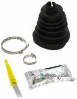 DRIVE SHAFT BOOT SPLIT +OE CLAMP + GREASE + ACCESSORIES (1PC)