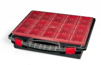 EMPTY COMPARTMENT BOX RED LOOSE CONTAINERS 430-80-25 (1PC)