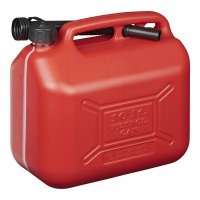 FUEL CAN 10L PLASTIC RED UN-APPROVED (1PC)