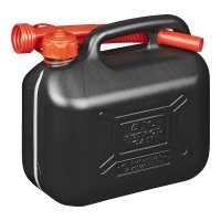 FUEL CAN 5L PLASTIC BLACK UN-APPROVED (1PC)