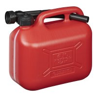 FUEL CAN 5L PLASTIC RED UN-APPROVED (1PC)