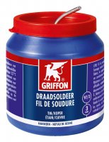 GRIFFON WIRE SOLDER TIN/COPPER 97/3 MS 3MM POT 500G (1PC)