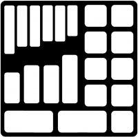 GRIP MODULE VIDE À 21 COMPARTIMENTS POUR FORETS (1PC)
