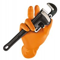 GRIPPAZ GLOVES ORANGE 7-S (50PCS)