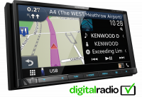 KENWOOD 7.0 WVGA AV RECEIVER / NAVIGATION SYS. WITH SMARTPHONE CONTROL & BUILT-IN DAB RAD