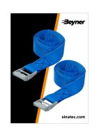 LASHING STRAP BLUE WITH QUICK FASTENER 2X2.5 METERS (1PC)