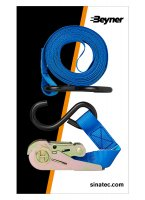 LASHING STRAP BLUE WITH RATCHET + 2 HOOKS 5 METERS (1PC)