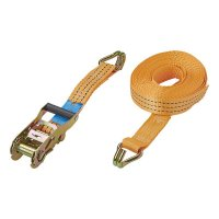 LASHING STRAP WITH RATCHET + 2 HOOKS 8 METERS 3000KG (1PC)