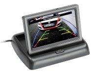 LCD FOLDING MONITOR 4.3 2X RCA INPUT SCREEN 180 ° TILTABLE (1PC)