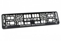 LICENSE PLATE HOLDER 3D + RELIEF PRINTED CHROME SUPPLY LETTERS (1PC)