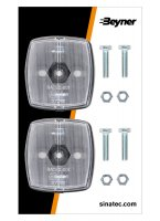 MARKER LAMP WHITE 66X62MM (2PC)