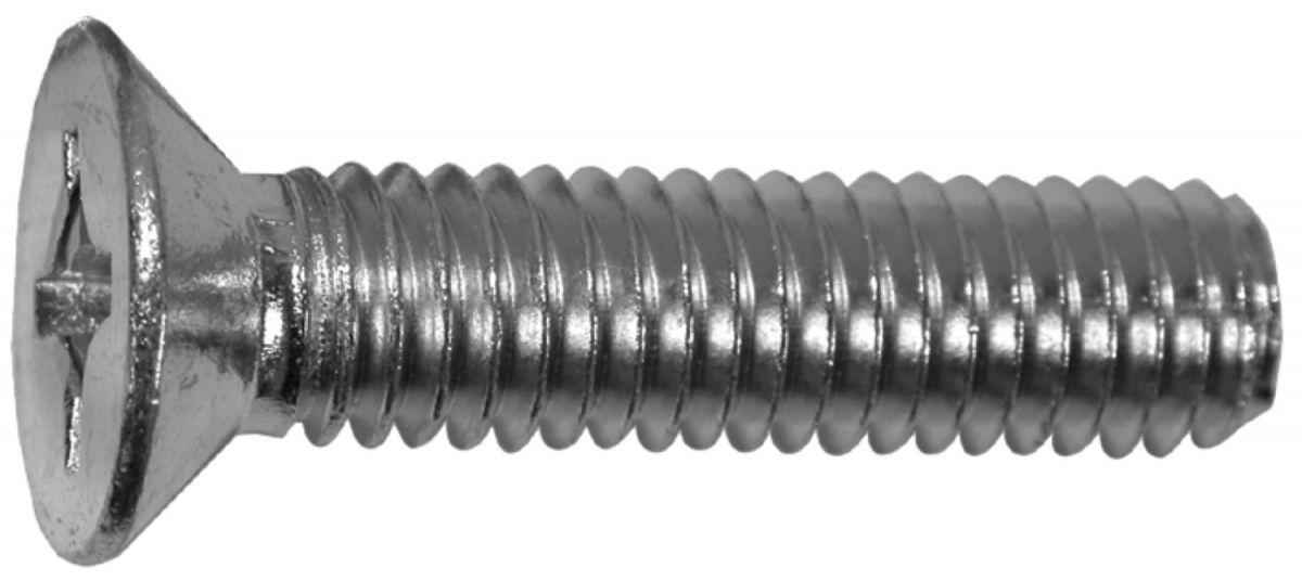 metaalschroef electrolitisch verzinkt din965h verzonken kop philipsdrive m3x12 20st