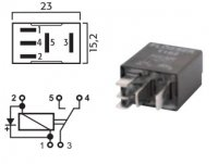 MICRO SWITCH RELAY 12V 15 / 25A WITH DIODE (1PC)