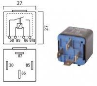 MINI CONTACT MAKE RELAY 12V 30A 4-POLE (1PC)