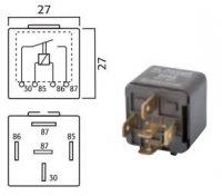 MINI CONTACT MAKE RELAY 12V 40A 5-POLES (1PC)