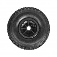 NOSE WHEEL TIRE PLASTIC RIM WITH AIR TIRE 260X85MM (1PC)