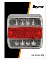 REAR LIGHT 4 FUNCTIONS 98X105MM 14LED (1PC)