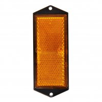 REFLECTOR ORANGE 104X40MM SCREW MOUNTING (1PC)