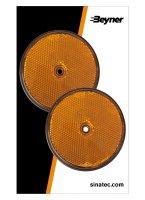 REFLECTOR ORANGE 80MM SCREW FASTENING (2PC)