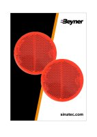 REFLECTOR RED 60MM SELF-ADHESIVE (2PC)
