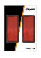 REFLECTOR RED 85X39MM SELF-ADHESIVE WITH BASE PLATE (2PC)