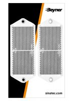 REFLECTOR WHITE 127X51MM SCREW FASTENING (2PC)