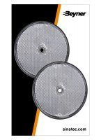 REFLECTOR WHITE 80MM SCREW FASTENING (2PC)