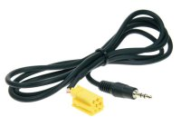 STEREO JACK 3.5MM STEREO TO MINI-ISO (YELLOW) 1.25METER (1PC)