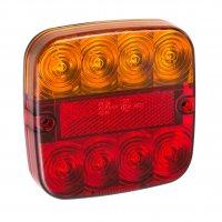 TAIL LIGHT 12V 5 FUNCTIONS 107X107MM 8LED (1PC)