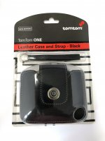 TOMTOM CARRY CASE AND STRAP ONE REAL LEATHER (1PC)