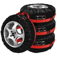 TYRE COVERS SET OF 4 PIECES IN BAG (1PC)