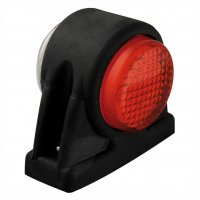 WIDE LIGHT 12/24V RED/WHITE 101X82MM LED (1PC)